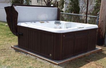 base de spas en b ton ou en poussi re de roche d m nagement de spa. Black Bedroom Furniture Sets. Home Design Ideas